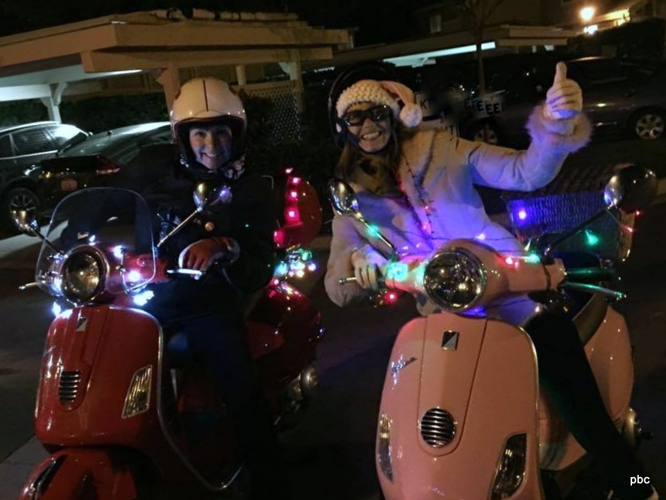 Gals on scooters