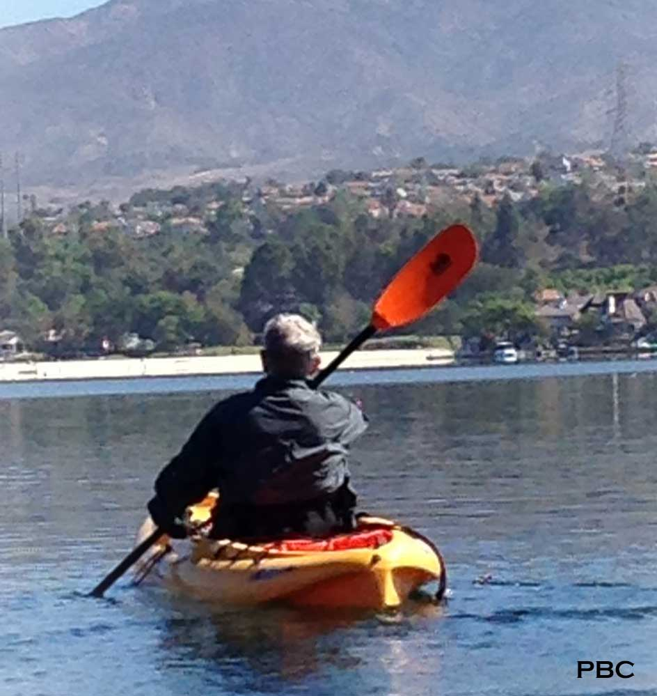 man kayaking,Lake Mission Viejo